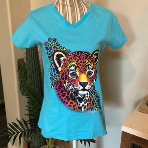 Lisa Frank Colorful Cheetah T- Shirt size Medium